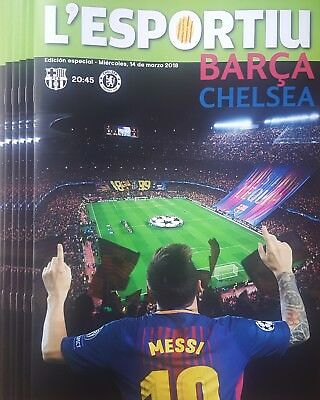 2018 BARCELONA v CHELSEA SPANISH A4 SIZE CHAMPIONS LEAGUE PROGRAMME