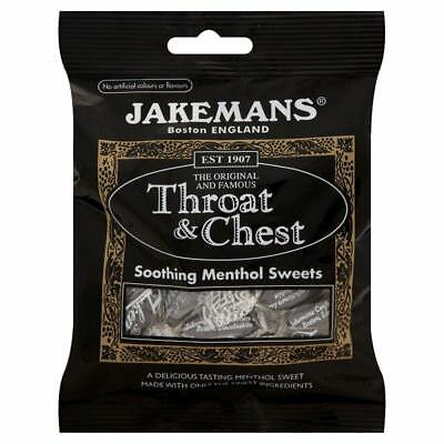 Jakemans Throat & Chest Soothing Sweets 100g 1 2 3 6 12 Packs