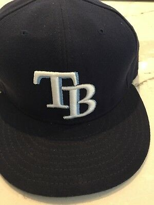 brand new 0f1bb e05b2 New Era Tampa Bay Rays GAME 59Fifty Fitted Hat (Light Navy) MLB Cap 7