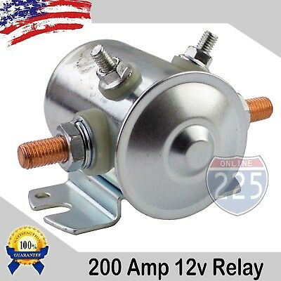 200 AMP High Current Automotive Relay Car Dual Battery Isolator 12V DC Marine RV