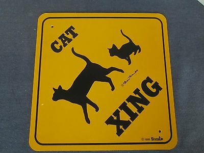 CAT Xing Crossing by Sheri Franks Signs Up 1999, Mother & Kitten