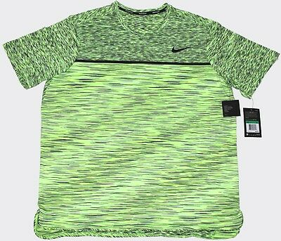 Nike Court Tennis Dry Challenger Crew T-Shirt DRI-Fit Ghost Green Size XL NWT