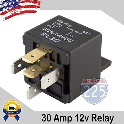 100PCS Universal 30A AMP 12V Volt Automotive 5-Pin Car Relay with Harness Socket