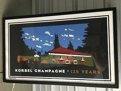 Korbel Champagne framed print 125 years anniversary from 2007