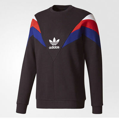 Adidas BS2204 Men originals NEVA Crew Sweat LS shirts black S-XL