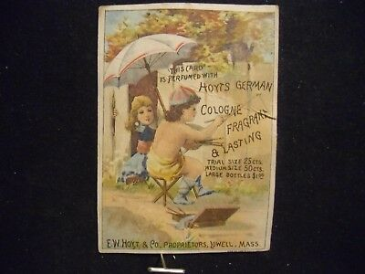 victorian trade card # 3247 - HOYTS GERMAN COLOGNE