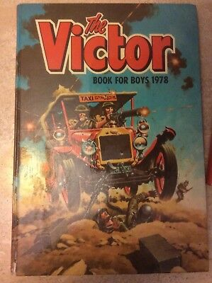 The Victor Book For Boys 1978 Annual. Unclipped price tag