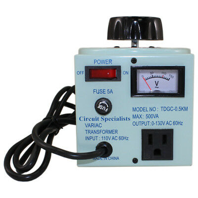 Variac Variable AC Voltage Regulator AND TransformerMetered 500W 0-130V US