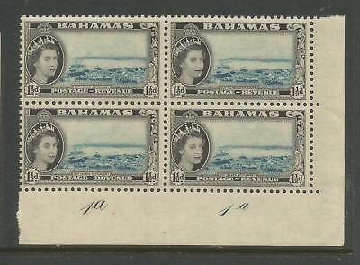 BAHAMAS 1954  1½d PLATE 1a, BLOCK OF 4. MINT NEVER HINGED.