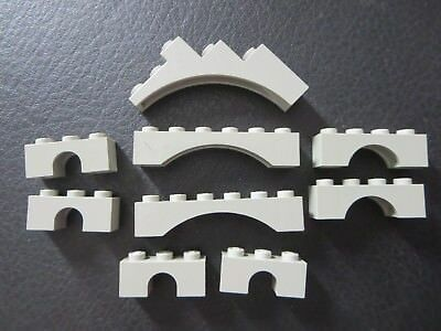 Lego     Vintage Gray Lot Of Arch Classic Pieces Parts