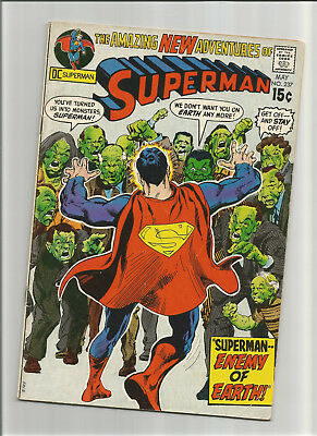 """Superman #237 {May 1971 Dc} Early Bronze Age! F+ """"the Enemy Of Earth!"""" Nice!"""