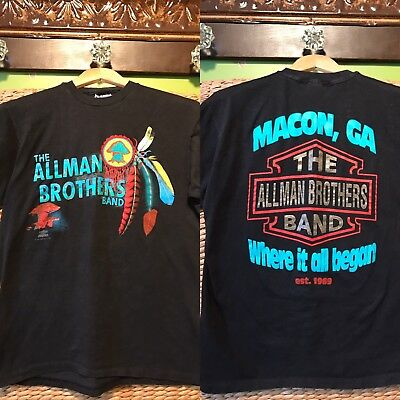 Vintage 1991 The Allman Brothers Band Tour T-Shirt Where it all Began Macon, GA