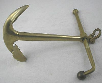 Rare Small Kedge or Navy Anchor, Brass, Great Paper Weigh, Perfect for the Navy