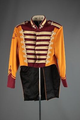 Vtg 60s Marching Band Sgt Peppers Uniform Jacket sz XS 32 Brass Buttons #4810