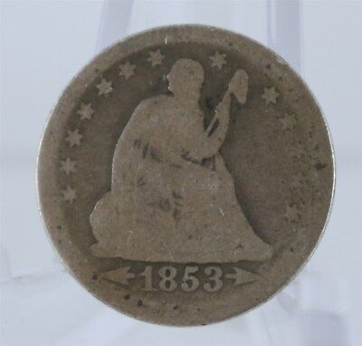 1853 US Quarter Seated Liberty with Arrows and Rays