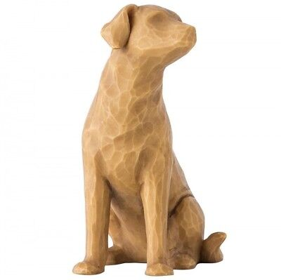 New & Boxed Willow Tree Figurine Love my Dog Light 27683 Pet Animal Family Gift