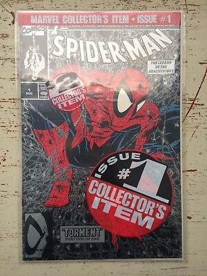 Spider-Man #1 UNOPENED BAG Silver, no cover price, mint condition (1990)