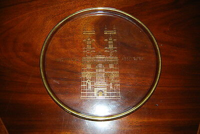 Wonderful Orrefors Crystal Westminster Abbey Cathedral Plate Or Tray