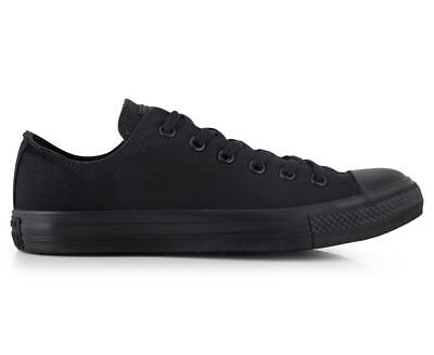 Converse Chuck Taylor Unisex All Star Low Shoe - Monochrome Black (TT428)