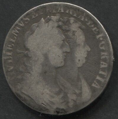 Great Britain 1689 Half Crown William and Mary