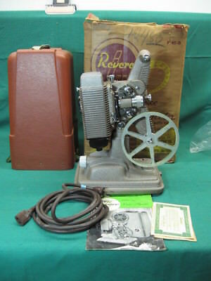"Revere 8Mm Film Movie Projector Model ""85""  + Manual + Case Guaranteed"