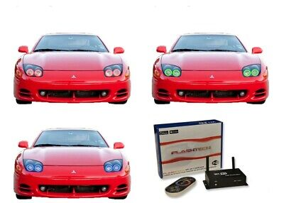 LED Headlight Halo Ring RGB Multi-Color WIFI Kit for Mitsubishi 3000GT 94-98