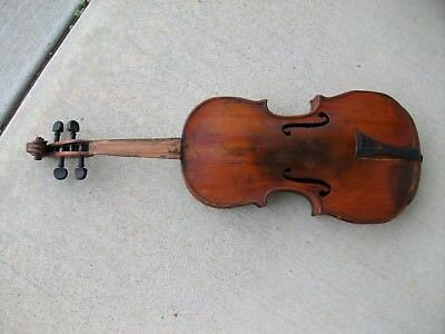 Antique Grand Gerard Violin 4/4 Full Size French.. For Parts Or Restoration