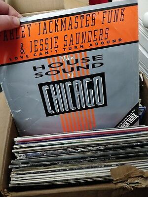 Job Lot Vinyl Records - 80's/90's House/R&B - 72 Records - Ex Club Collection