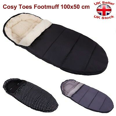 Universal Wool/Fleece Cosy Toes Footmuff Carrycot Buggy Pushchair Stroller Pram