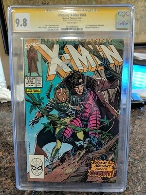 Marvel Comics Uncanny X-Men #266 CGC 9.8 Signature Series Jim Lee Gambit
