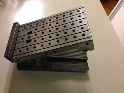"Great Used PRECISION 6"" x 3 3/4""x 2 1/8"" SINE FIXTURE PLATE w/ THREADED HOLES"