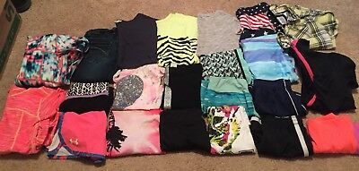 Youth Girls Size 7 - Lot Of 21 Items - Justice, Champion, UA, Zella, Circo, Etc!