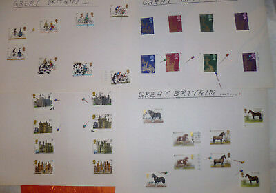 Great Britain Stamps   1977-78 Sets Mint And Used Hinged