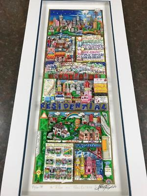 """Charles Fazzino 3D Artwork """" Rich On Real Estate """" Deluxe Ed. Signed & Numbered"""