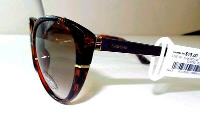 BEBE Women's Cat Eye Sunglasses Tortoise Brown Real Thing Glasses New w Tags