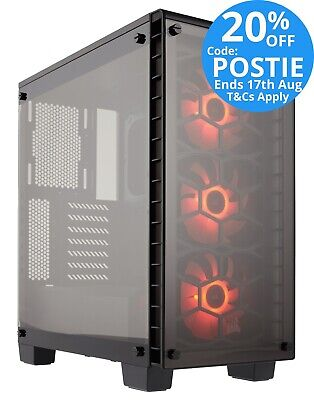 Corsair Crystal 460X RGB BLACK Mid Tower Case Two-Panel Tempered Glass w Window