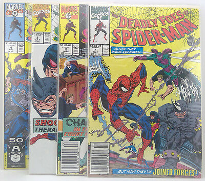 Deadly Foes of Spider-Man #1-4 Lot of 4 comics Marvel 1991 VF or better