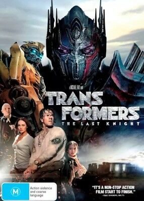 Transformers The Last Knight Dvd New & Sealed- Free Postage!