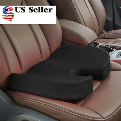 Memory Foam Coccyx Car Seat Cushion Support Office Pillow Sciatica Pain Relief