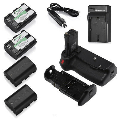 BG-E14 Battery Grip for Canon EOS 70D 80D + 4 LP-E6 Batteries + Charger + Remote
