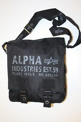 Alpha Industries Cargo Oxford Utility Bag 101917/03 Black schultertasch