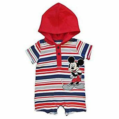 Disney Mickey Mouse Maus Baby Spieler Hoodie Body mit Kapuze Sommer Outfit 62-68
