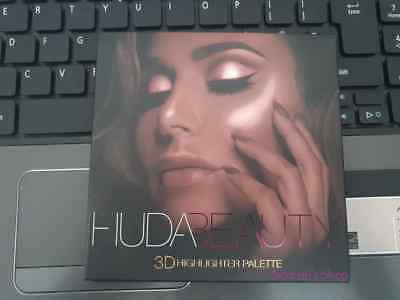 Genuine Huda Beauty 3D Highlighter Palette Golden Sands - AUTHENTICITY GURANTEED