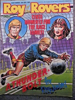 Roy Of The Rovers Comic 30/7/1988 Vintage Rare Vgc