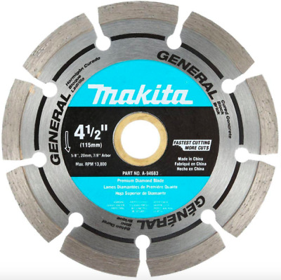 Makita 4.5 inch Diamond Blade Circular Saw Power Tool Attachment Concrete Cutter