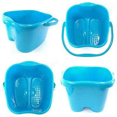 Blue Foot Basin Bucket Container Tub Home Salon Spa Bath Soak Detox Feet Massage