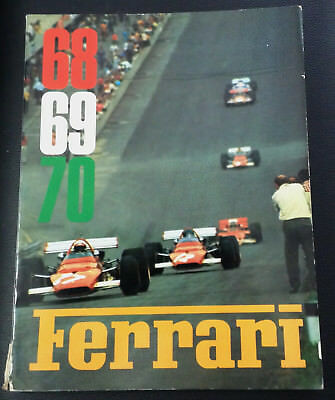 very rare official Annuario Yearbook Ferrari 68/69/70 with Enzo card F1 Sport LM
