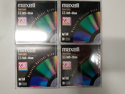Magneto Optical Disk Maxell Rewriteable 3.5 inch 90mm 230MB
