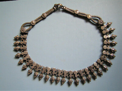 Halskette  Kollier  Silber  Indien  Necklace  Silver  Tribal Kutch  India