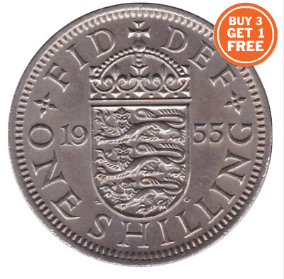 1953 - 1967 English Shilling Queen Elizabeth Coin Choose Your Dates